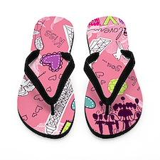 Love in Paris Flip Flops