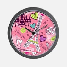 Love in Paris Wall Clock