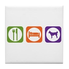 Eat Sleep Lundehund Tile Coaster