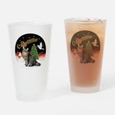 NightFlight-Bobtail Cat Drinking Glass