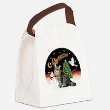 NightFlight-Bobtail Cat Canvas Lunch Bag
