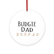Budgie Dad Ornament (Round)