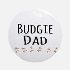 Budgie Dad Ornament (Round)
