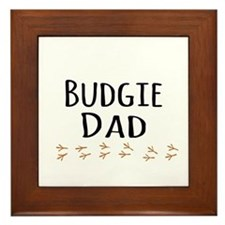 Budgie Dad Framed Tile