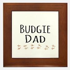 Budgie Dad Framed Tile