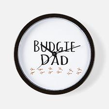 Budgie Dad Wall Clock