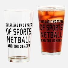 Netball Designs Drinking Glass