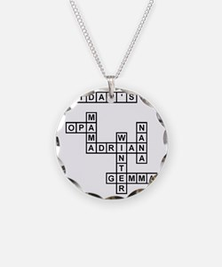 SPENCER II SCRABBLE-STYLE Necklace