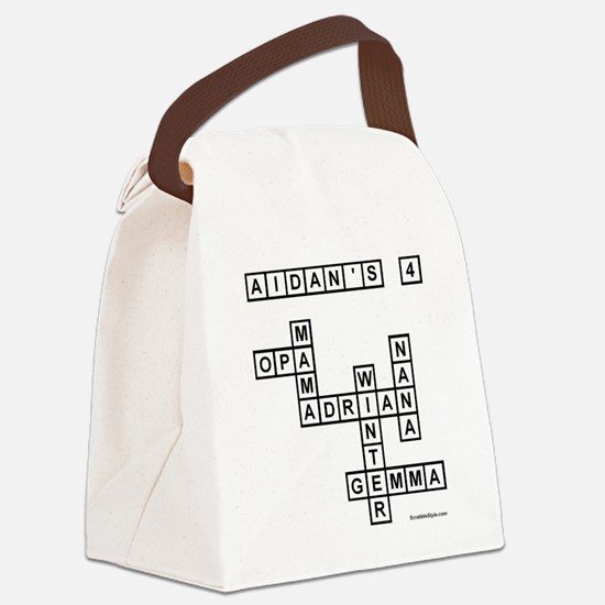 SPENCER II SCRABBLE-STYLE Canvas Lunch Bag
