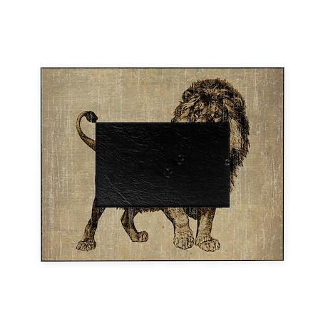 vintage lion picture frame by admin cp1030624. Black Bedroom Furniture Sets. Home Design Ideas