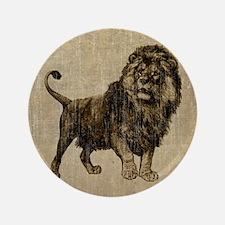 """Vintage Lion 3.5"""" Button"""