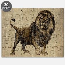 Vintage Lion Puzzle