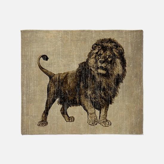 Vintage Lion Throw Blanket