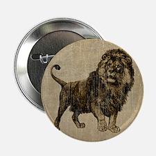 """Vintage Lion 2.25"""" Button"""