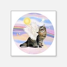 "Clouds-AmericanBobtail Ange Square Sticker 3"" x 3"""