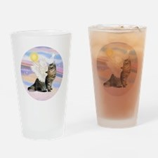 Clouds-AmericanBobtail Angel Drinking Glass
