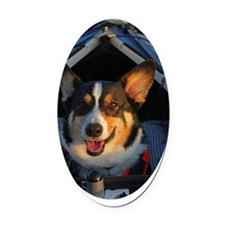 Thank You! Oval Car Magnet