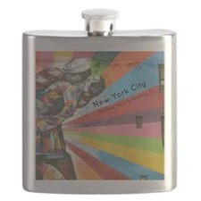 NYC calendar cover Flask