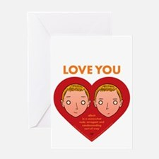 Love Brothers Love You Greeting Card