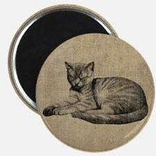 Cute Vintage Cat Magnet