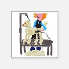 "Groomer Square Sticker 3"" x 3"""