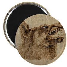 Vintage Wolf Magnet