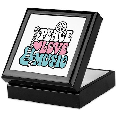 Peace Love Music Keepsake Box