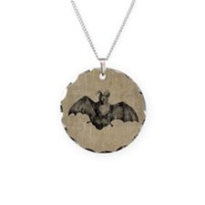 Vintage Bat Illustration Necklace