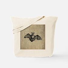 Vintage Bat Illustration Tote Bag
