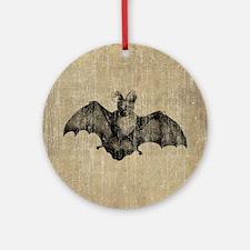 Vintage Bat Illustration Round Ornament