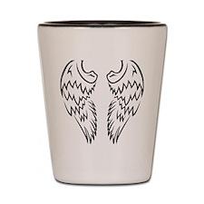 Tribal Tatto Angel Wings Shot Glass