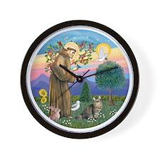 St Francis  American Bobtail Wall Clock