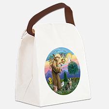 St Francis  American Bobtail Canvas Lunch Bag