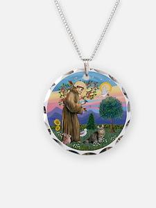 St Francis  American Bobtail Necklace