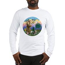 St Francis  American Bobtail Long Sleeve T-Shirt