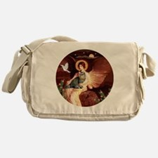 American Bobtail cat and Angel Messenger Bag