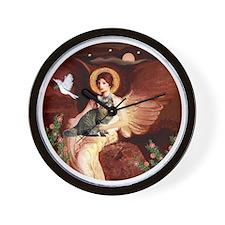 American Bobtail cat and Angel Wall Clock