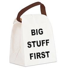 Big Stuff First Canvas Lunch Bag