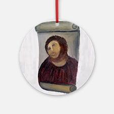 Jesus Fresco full Round Ornament