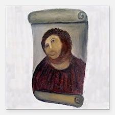 "Jesus Fresco full Square Car Magnet 3"" x 3"""