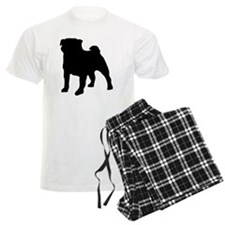 silhouette pug pajamas