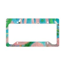 Flamingo Party License Plate Holder