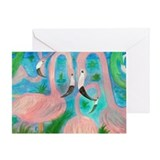 Flamingo party Greeting Cards