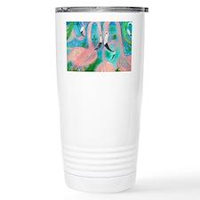 Flamingo Party Travel Coffee Mug