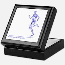 Running Man in Words (rwt) Keepsake Box