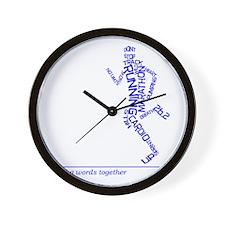 Running Man in Words (rwt) Wall Clock