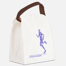 Running Man in Words (rwt) Canvas Lunch Bag
