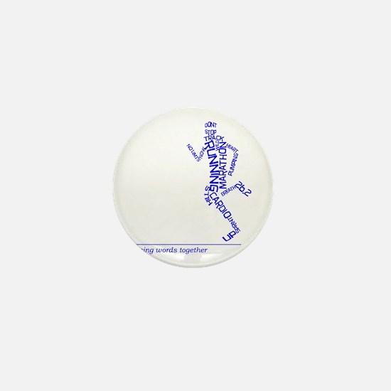 Running Man in Words (rwt) Mini Button