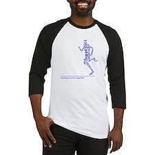 Running Man in Words (rwt) Baseball Jersey
