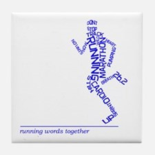 Running Man in Words (rwt) Tile Coaster